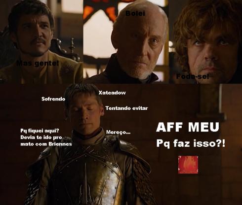 O Jaime bem que tentou, mas a zuera não tem limite. Foto da pagina do R'lhor Bolado.